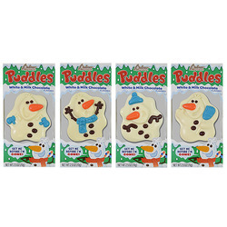 White & Milk Chocolate Flavored Puddles 24/2.5oz