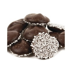 Dark Chocolate Nonpareils with White Seeds 8lb