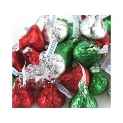Hershey's Kisses®, Red/Green/Silver 25lb